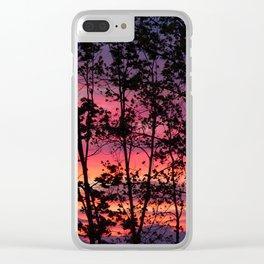 Fall Sunrise Clear iPhone Case