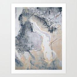 As Restless as the Sea: a minimal abstract painting by Alyssa Hamilton Art Art Print
