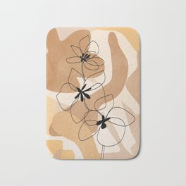 Elegant Flowers Bath Mat