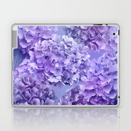 Painterly purple blue hydrangea flowers Laptop & iPad Skin