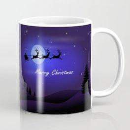 Reindeer pulling Santa's Sleigh Coffee Mug
