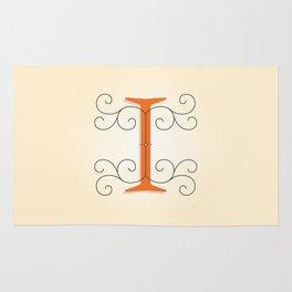 Letter I Initial Cap Rug