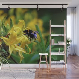 Honeysuckle and Bee Wall Mural