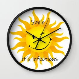 Infectious Smile Wall Clock