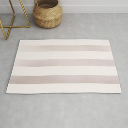 Rose Gold and Pink Stripes Pattern Rug