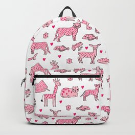 valentines animals nature sharks giraffe deer cats nursery love hearts Backpack