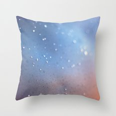Frozen Blue Throw Pillow