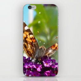 Small Butterfly with Bubbles  iPhone Skin
