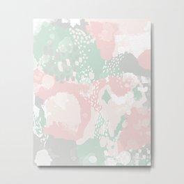 Alexei - abstract minimal modern painting splash dots stripes painterly art Metal Print