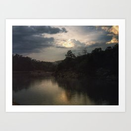 Sunset at C&O Canal Art Print