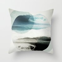 girls Throw Pillows featuring Nalunani by .eg.