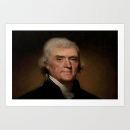 portrait of Thomas Jefferson by Rembrandt Peale Art Print
