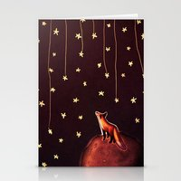 le petit prince Stationery Cards featuring ~Fox / Le Petit Prince by Federica Amico