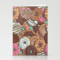 donuts Stationery Cards featuring Donuts by Mario Zucca