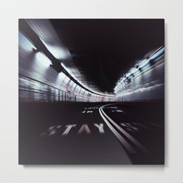 Stay In Lane Metal Print