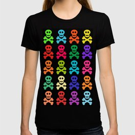 Colorful Pirate Skulls T-shirt