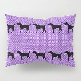 Black Lab in Purple Pattern Pillow Sham