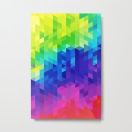 Abstract LGBT Pattern Metal Print