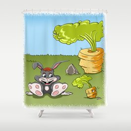 Rabbit and carrot Shower Curtain