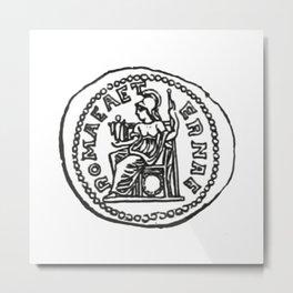 Coin Moneda Denario Denarius Metal Print