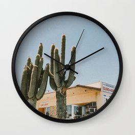 cactus 2 / california desert Wall Clock
