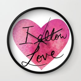 I allow love Wall Clock