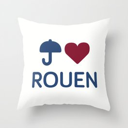"I ""Love"" Rouen Throw Pillow"