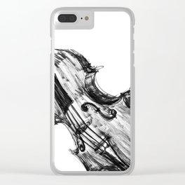 Black Violin Clear iPhone Case