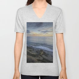 Ocean View from the Beach Unisex V-Neck