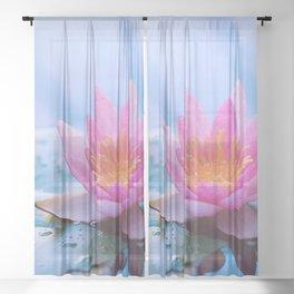 Lone Lotus Sheer Curtain