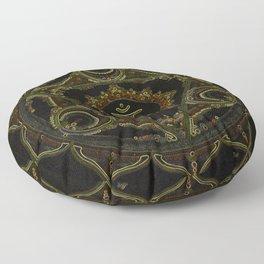 Digital Solar Plexus Mandala Floor Pillow