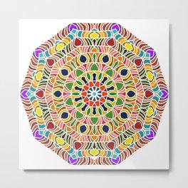 Elements forming a symmetrical mandala Metal Print
