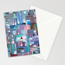 Colorful Rectangles. Acrylic Abstract Painting.  Stationery Cards