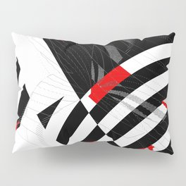 black and white meets red Version 8 Pillow Sham