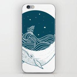 Whale dream iPhone Skin