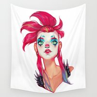 clown Wall Tapestries featuring Clown by trevacristina