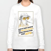 fear and loathing Long Sleeve T-shirts featuring Fear and Loathing in Las Vegas by Michelle Eatough