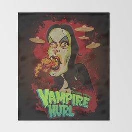 Vampire Hurl Throw Blanket