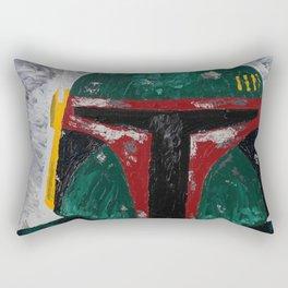 Boba Fett palette knife painting Rectangular Pillow