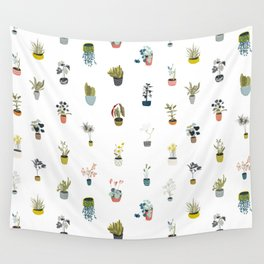 plants in pots Wall Tapestry