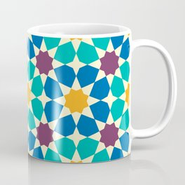 Moroccan pattern, Morocco. Patchwork mosaic with traditional folk geometric ornament Coffee Mug
