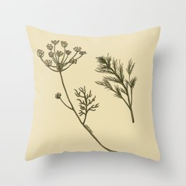 Dill Botanical Throw Pillow