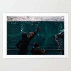 Blue Penguins III Art Print
