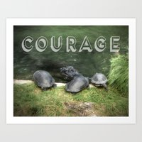 courage Art Prints featuring Courage by Judith Lee Folde Photography & Art