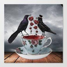 TEA AND A LIL' LOVE Canvas Print