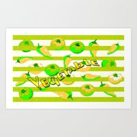 vegetable Art Prints featuring Vegetable by LoRo  Art & Pictures