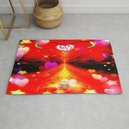 """Red Hot Love-a"" Rug"