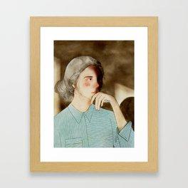 Chin on Hand Framed Art Print