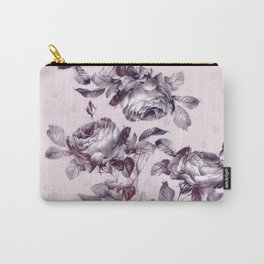 grandma's rose garden vintage purple rose pink Carry-All Pouch