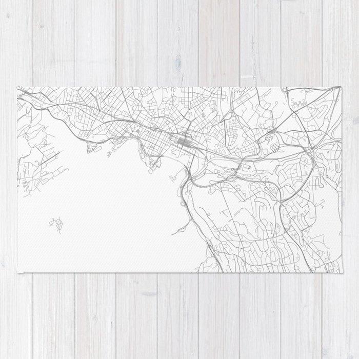 Oslo Norway Minimalist Map Rug by resfeber Society6